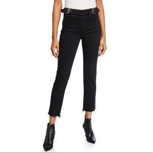 Grlfrnd Zoey Double Buckle Crop Slim Jeans Size 26